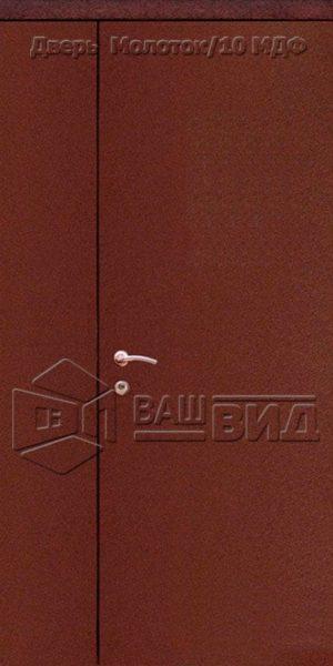 Дверь Молоток/10 МДФ 1200*2040 (входная с улицы)