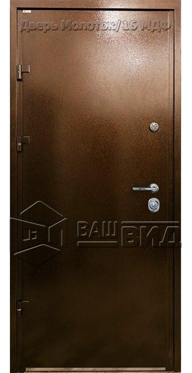 Дверь Молоток/16 МДФ 860*2050 (входная с улицы)