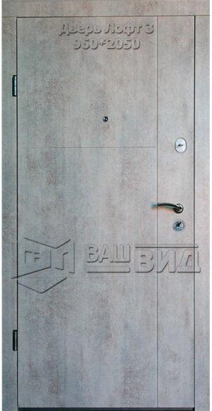 Двери Лофт 3 960*2040 (входные квартира)