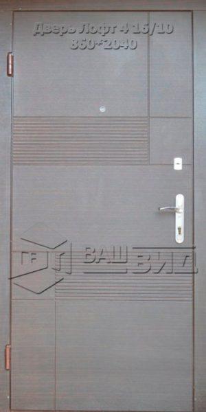 Двери Лофт 4 16/10 860*2040 (входные квартира)