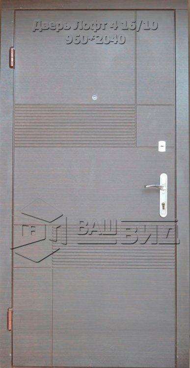 Двери Лофт 4 16/10 960*2040 (входные квартира)