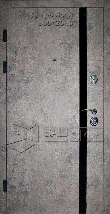 Двери Лофт 5 860*2040 (входные квартира) 5
