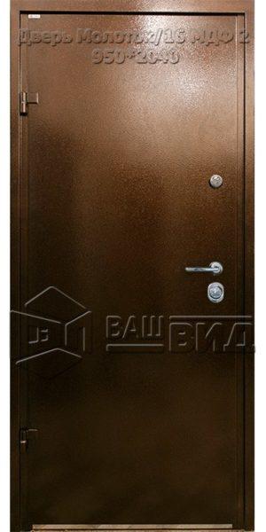 Дверь Молоток/16 МДФ 2 950*2040 (входная с улицы)
