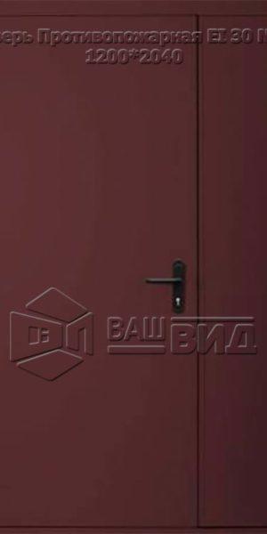 Дверь Противопожарная ЕІ 30 №2 1200*2040 (входная с улицы)