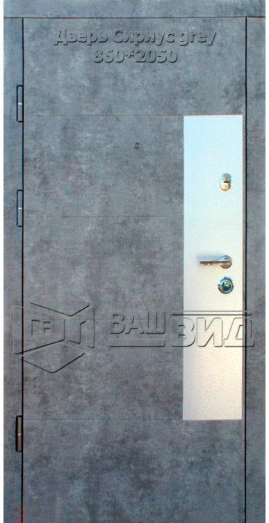 Двери Сириус grey 860*2040 (входные квартира) 5