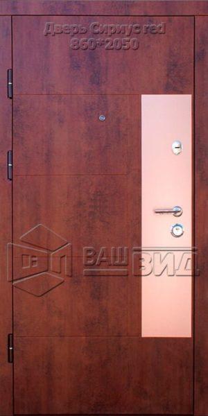 Двери Сириус red 860*2050 (входные квартира)