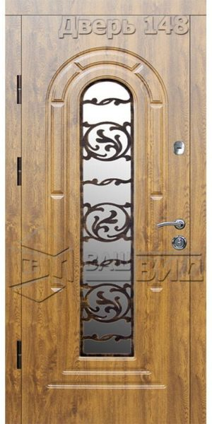 Дверь Б145 плюс решётка эскиз (входная улица)
