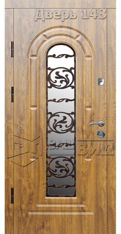 Дверь Б145 плюс решётка эскиз (входная улица) 5