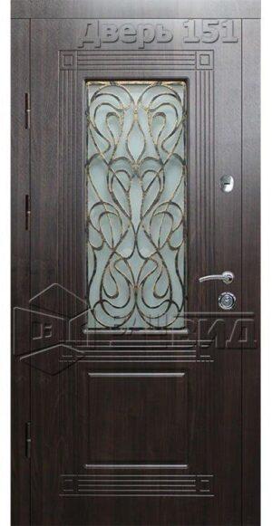 Дверь Б271 плюс решётка эскиз (входная улица)
