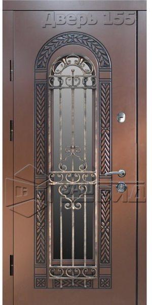 Дверь БП1 плюс решётка 25 (входная улица)