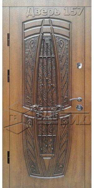 Дверь БП15 плюс решётка 15 (входная улица)