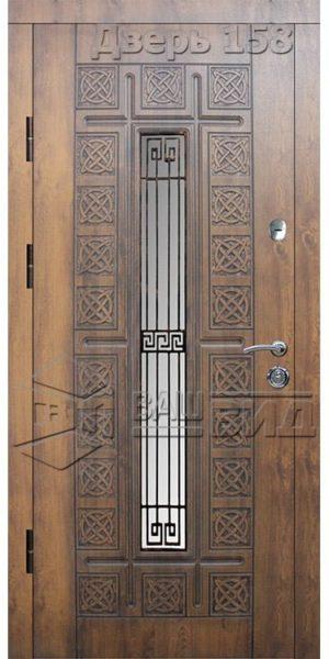 Дверь БП26 плюс решётка эскиз (входная улица)