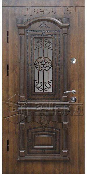 Дверь Рим 5 плюс решётка эскиз (входная улица)