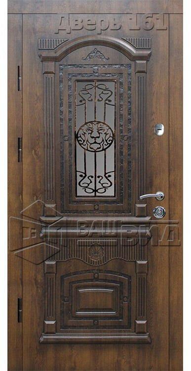 Дверь Рим 5 плюс решётка эскиз (входная улица) 5