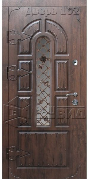 Дверь СД9 плюс решётка 9 (входная улица)