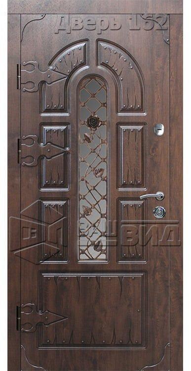 Дверь СД9 плюс решётка 9 (входная улица) 5