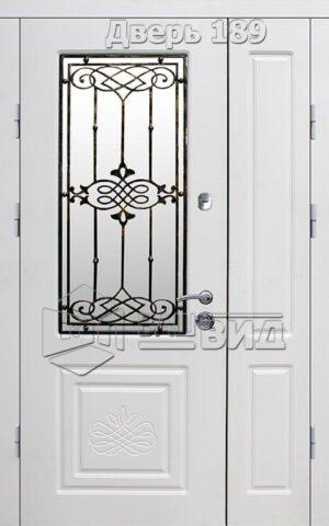 Дверь Б289 плюс решётка эскиз (входная улица)