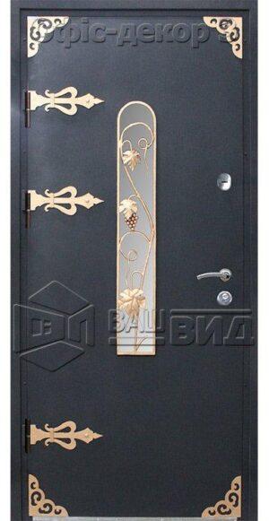 Дверь Офис декор 3 с/п плюс решётка 7 (входная улица)