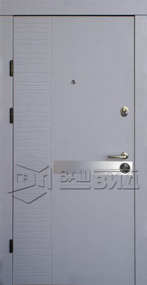 Двери Делла-AL двухцветные (входные квартира)
