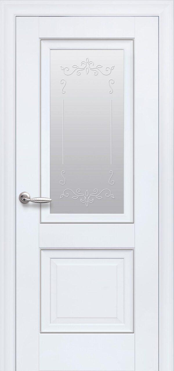 Межкомнатные двери ПП Premium ПП59 ПО со стеклом сатин и рисунком 5