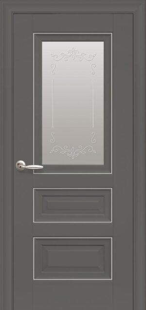 Межкомнатные двери ПП Premium ПП60 ПО со стеклом сатин и рисунком