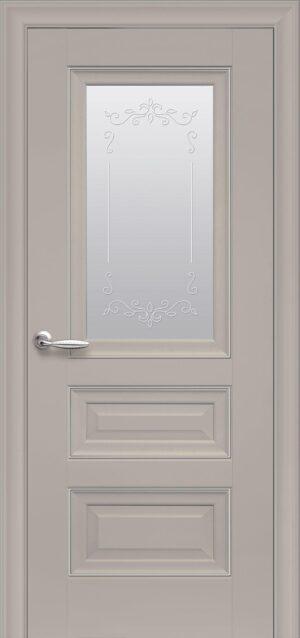 Межкомнатные двери ПП Premium ПП60 ПО со стеклом сатин и рисунком магнолия
