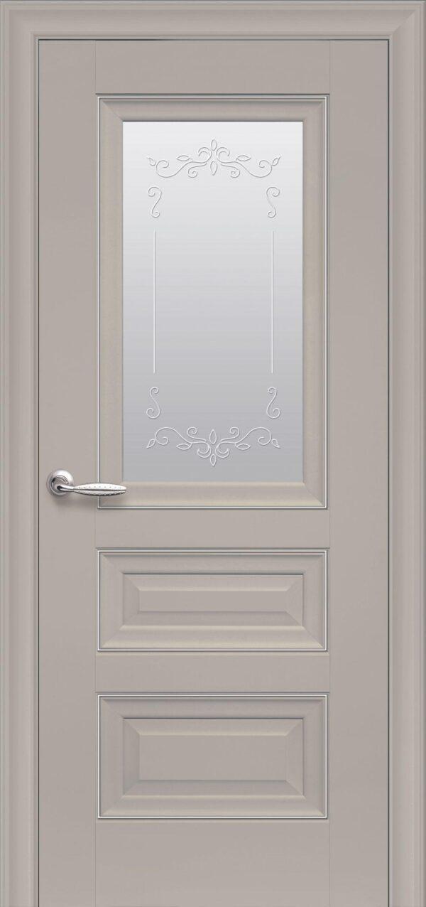 Межкомнатные двери ПП Premium ПП60 ПО со стеклом сатин и рисунком магнолия 5