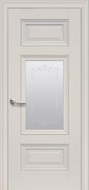 Межкомнатные двери ПП Premium ПП61 ПО со стеклом сатин и рисунком