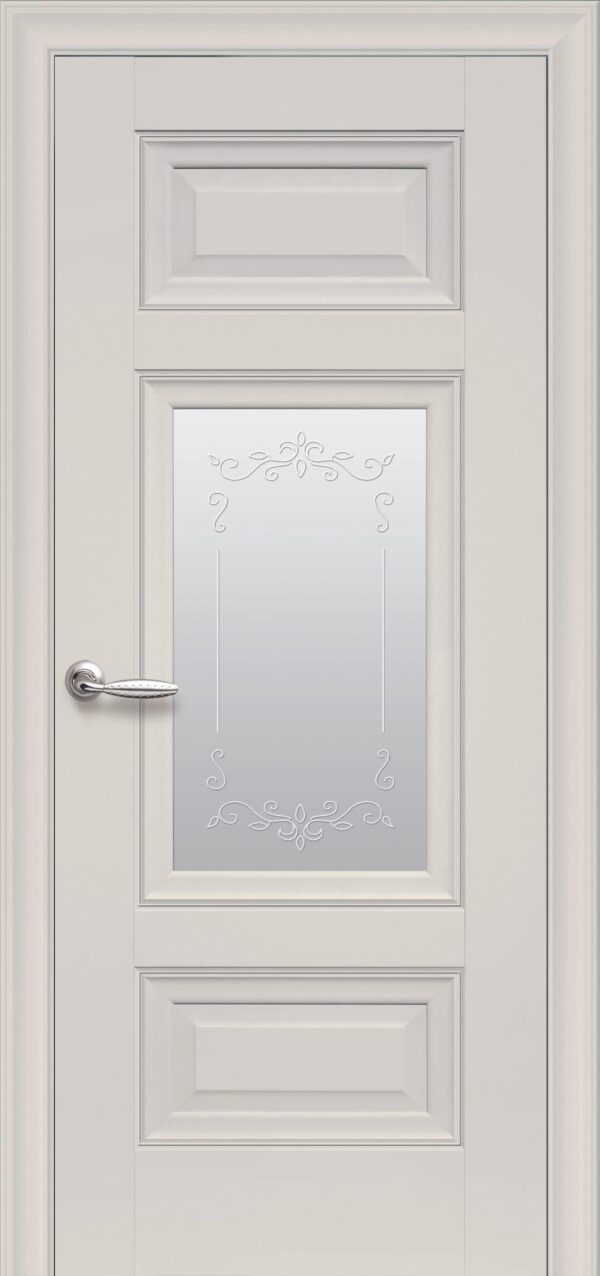 Межкомнатные двери ПП Premium ПП61 ПО со стеклом сатин и рисунком 5