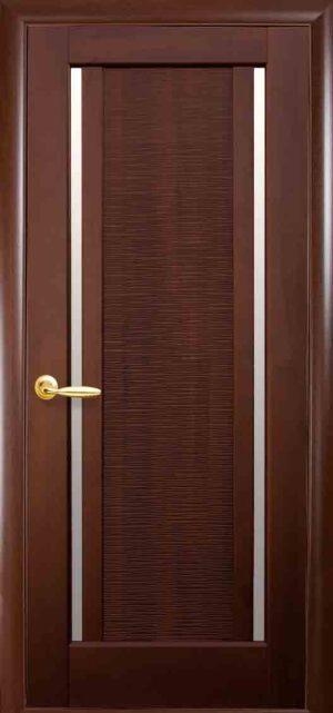 Межкомнатные двери ПВХ П10 со стеклом сатин