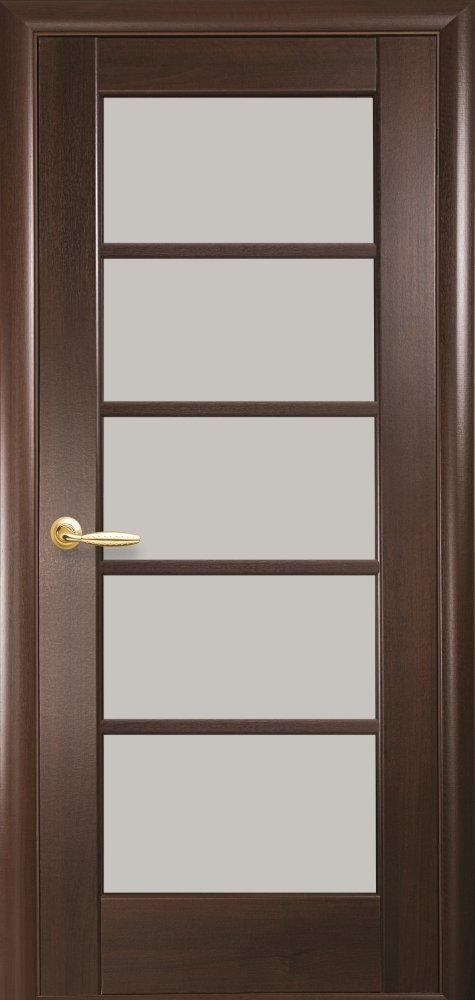 Межкомнатные двери ПВХ П13 каштан 5