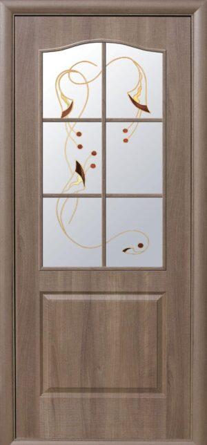 Межкомнатные двери ПВХ П17 со стеклом сатин