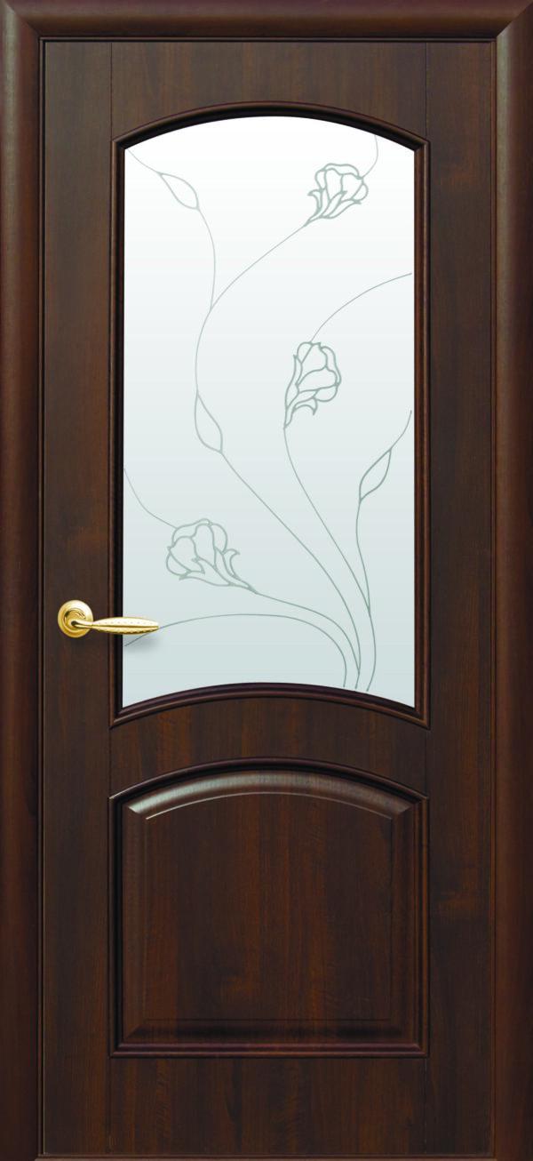 Межкомнатные двери ПВХ П18 со стеклом сатин и рисунком 5
