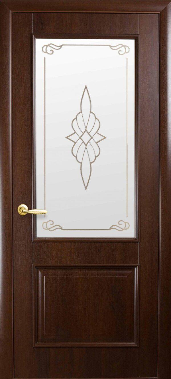 Межкомнатные двери ПВХ П19 со стеклом сатин и рисунком 5