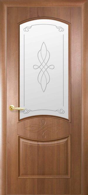 Межкомнатные двери ПВХ П20 со стеклом сатин и рисунком
