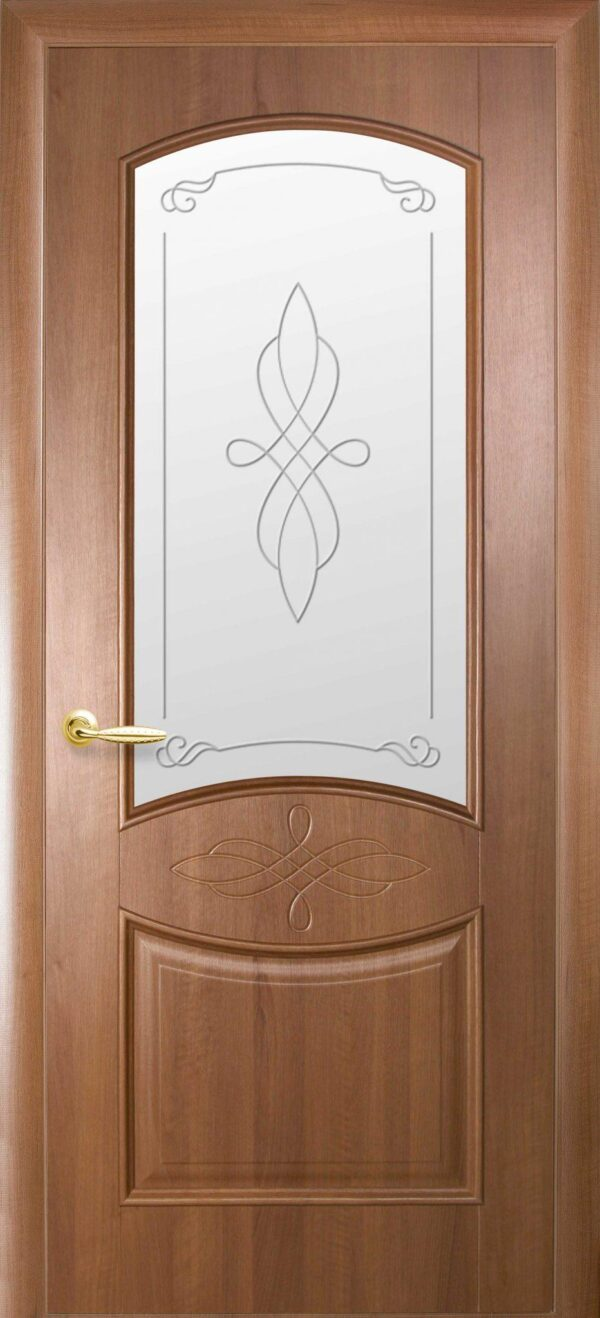 Межкомнатные двери ПВХ П20 со стеклом сатин и рисунком 5