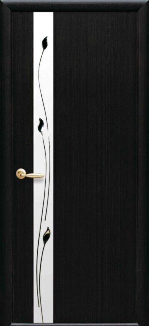 Межкомнатные двери ПВХ П24 с зеркалом венге