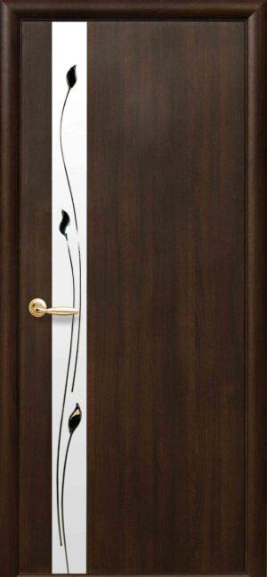 Межкомнатные двери ПВХ П24 с зеркалом