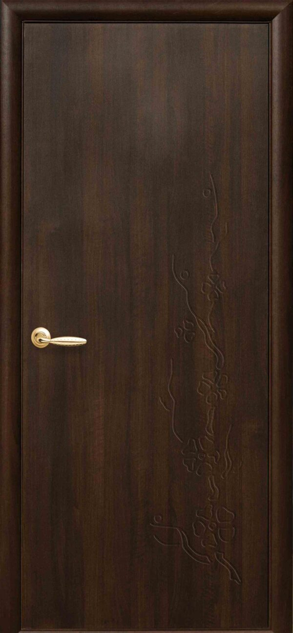 Межкомнатные двери ПВХ П25 каштан 5