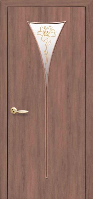Межкомнатные двери ПВХ П26 золотая ольха