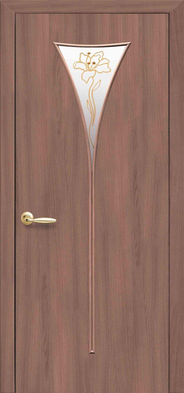 Межкомнатные двери ПВХ П26 золотая ольха 5