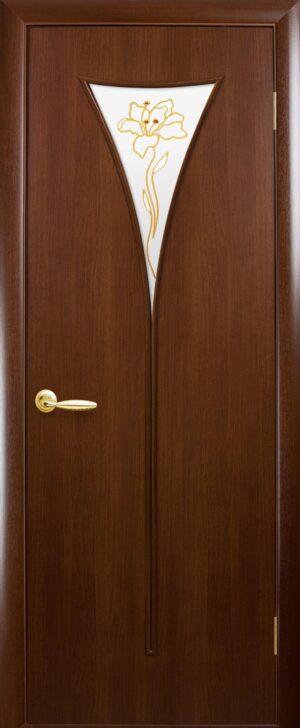 Межкомнатные двери ПВХ П26 орех