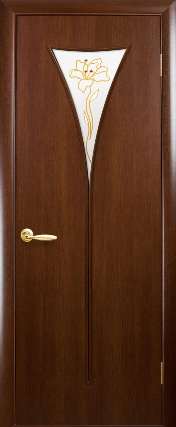 Межкомнатные двери ПВХ П26 орех 5