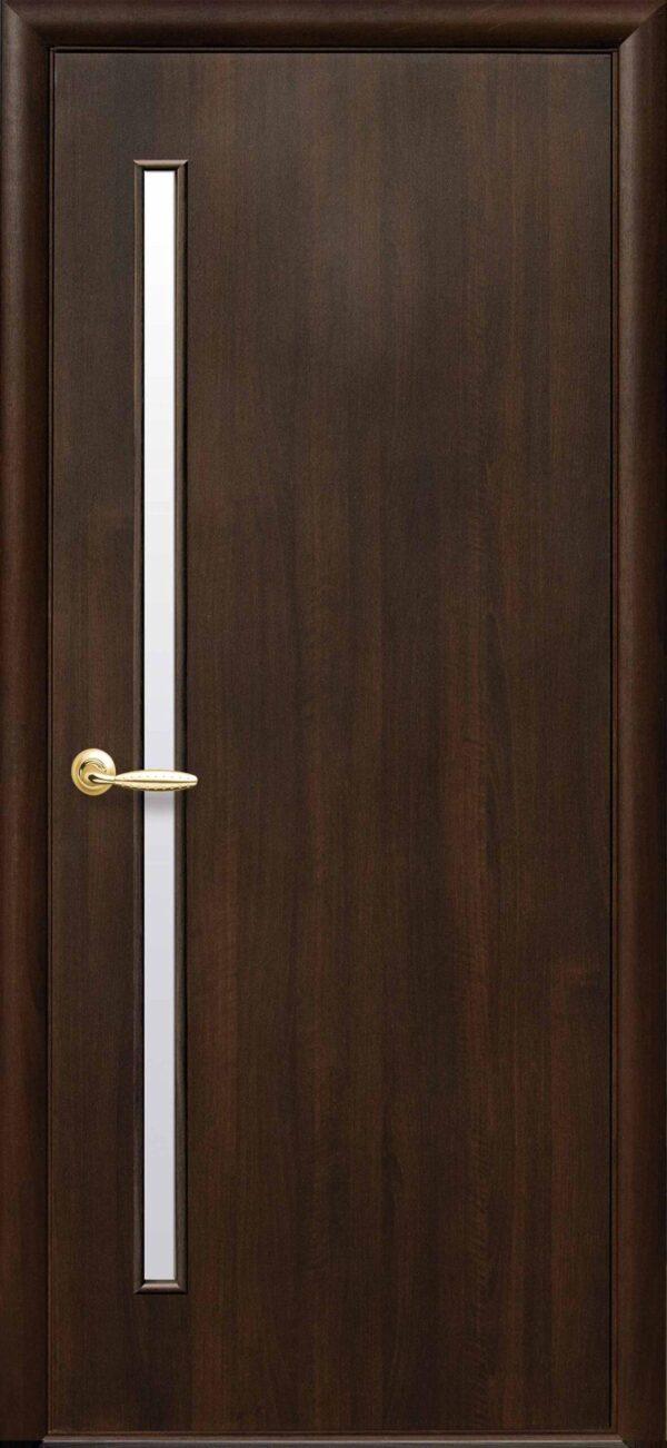 Межкомнатные двери ПВХ П32 каштан 5