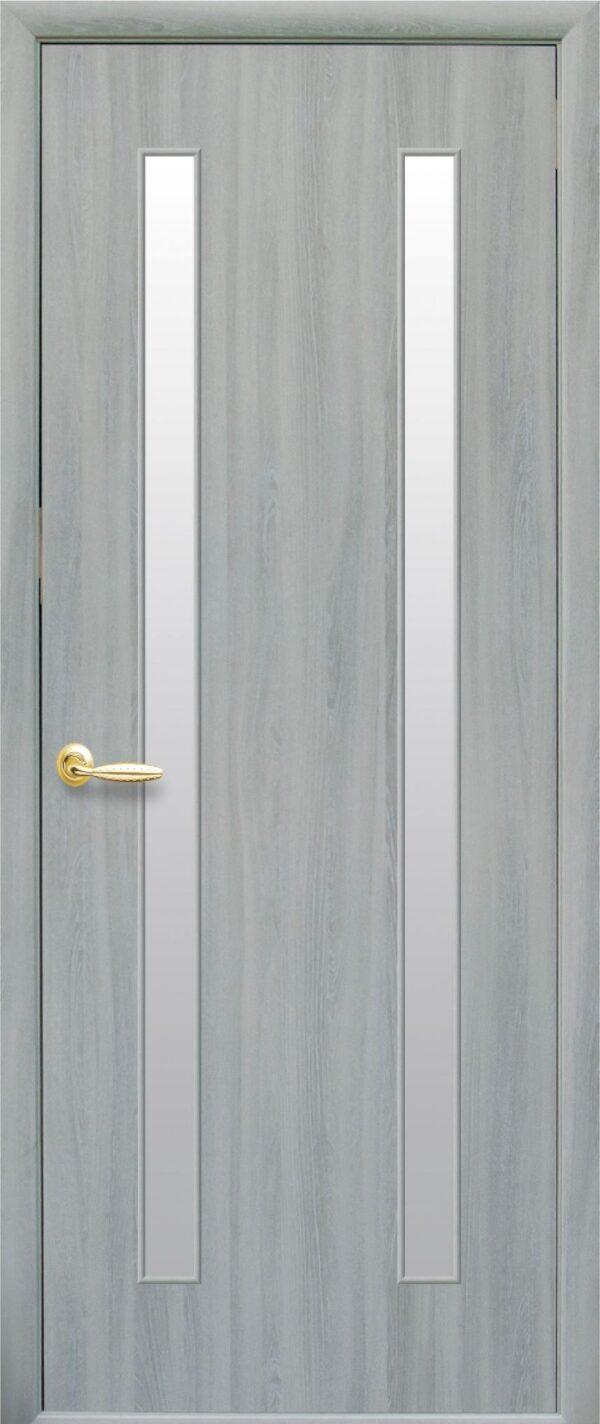 Межкомнатные двери ПВХ П36 со стеклом сатин 5