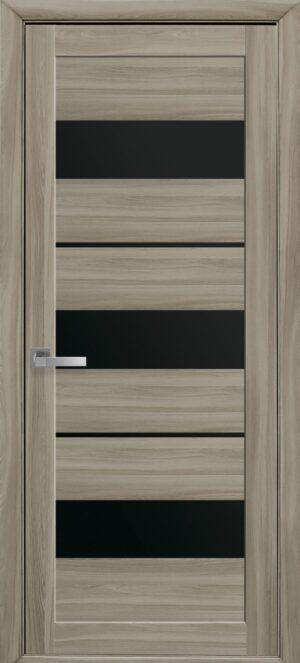 Межкомнатные двери ПВХ П38 с черным стеклом