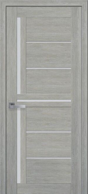 Межкомнатные двери ПВХ П41 со стеклом сатин и рисунком