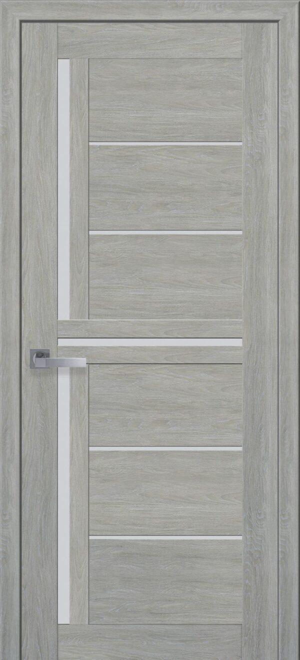 Межкомнатные двери ПВХ П41 со стеклом сатин и рисунком 5