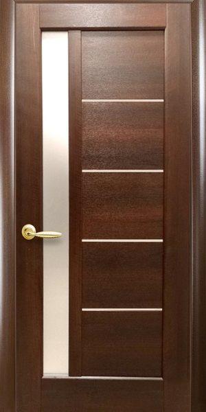 Межкомнатные двери ПВХ П5 со стеклом сатин