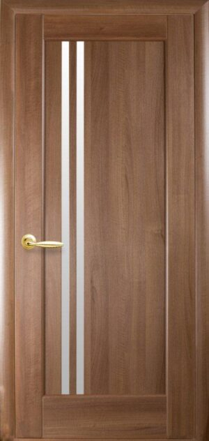 Межкомнатные двери ПВХ П8 со стеклом сатин
